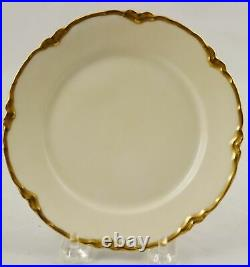 10 Haviland Limoges Gold Trim Dinner Plates 9-3/4 Ranson 1, Schleiger H722