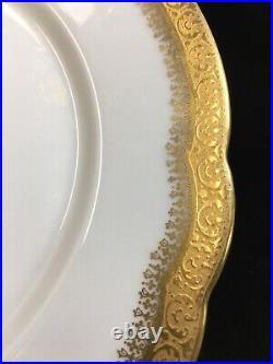 (10) Wm Guerin Wanamaker Poy148 Gold Encrusted 8.625 LUNCHEON PLATES
