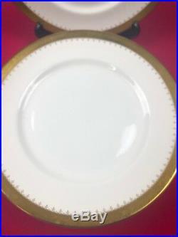 10 x Thomas Goode Large Italian Dinner Plates 27.5 cm Castle of Mey Gold Gilding