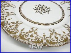 11 Antique 107 Yr Old Delinieres Bernardaud Limoges Dinner Plates Gold MINT