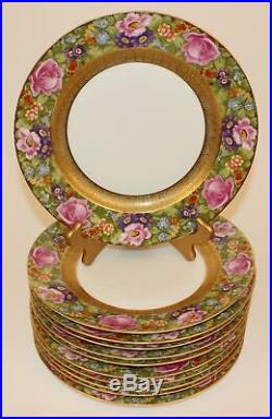 11 Stunning Rosenthal Heavy Gold Floral Band Dinner Plates