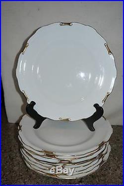 11 Vintage Royal Crown Derby REGENCY China Dinner Plates Made in England
