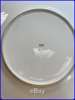 12 Bavaria for Ovington Porcelain Maroon Red Gold Encrusted Dinner Plates