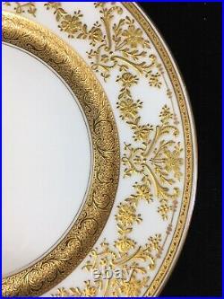 (12) C. Ahrendfeldt Super Gold Encrusted 9.75 PLATES Bailey Banks Biddle-Phila