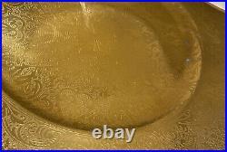 12 Gold Encrusted Hutschenreuther Selb Royal Bavaria Dinner Plate Set 10 1/2