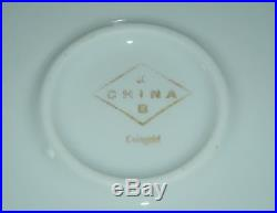 12 Heavy GOLD Encrusted Green Trim Dinner Plates COINGOLD Hutschenreuther KB