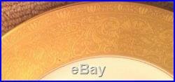 12 Heinrich&Co. White and Gold banded dinner plates Selb Bavaria from Black Star