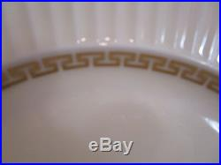 12 LENOX Cretan 10 7/8 Dinner Plates Cream withGold Greek Key Verge