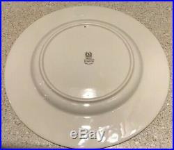 12 LENOX Westchester dinner plates 10 1/4 gold trim