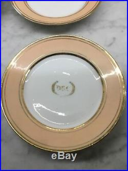 12 Old Paris Porcelain Dinner Plates Set Gold And Beige 1828-1833