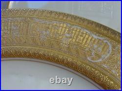 12 Vintage Genuine Beleek HM Co. Gold Encrusted Dinner Plates