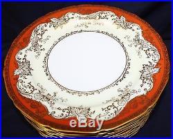 12 Vintage Noritake Japan Rust Gold Dinner Plates