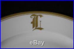 14pc Franconia-Krautheim Selb Bavaria GOLD TRIM 7308 10 Dinner Plates, Mono L