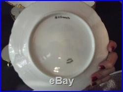 15 Dinner Salad Plates Cups Haviland & Co Limoges France Schleiger 1 Ranson Gold