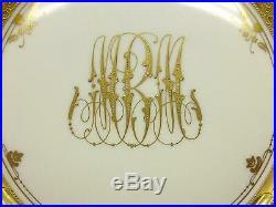 1890 Dresden Ambrosius Lamm Anne Boleyn Queen England Portrait Gold Dinner Plate