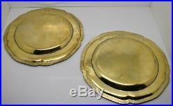 1st PAIR of GEORGE III silver & GOLD DINNER PLATES. Armorials. W. Fountain 1812