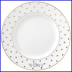$278 NEW Lenox 8 Pc SET DINNER + SALAD Plate s Kate Spade LARABEE ROAD GOLD