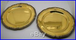 2nd PAIR of GEORGE III silver & GOLD DINNER PLATES. Armorials. W. Fountain 1812