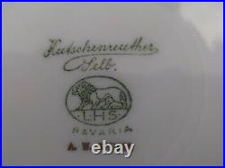 3 HUTSCHENREUTHER SELB Bavaria LHS Gold Encrusted /Flower Charger Dinner Plates