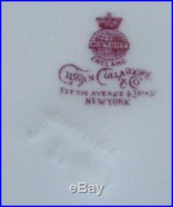 4 ANTIQUE MINTON COBALT BLUE GOLD ENCRUSTED g6262 DINNER PLATES 10 1/4