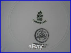 5 Heinrich H&C Bavaria Germany 22K Gold Encrusted Medallion Center Dinner Plate