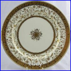 5 Minton Gold Jeweled Dinner Plates England for Davis Collamore & Co Ltd NYC
