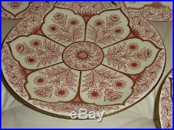 6 Antique Royal Worcester Fine Floral And Gold Decoration Dinner Plates