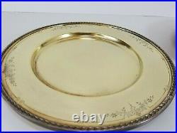 6 International Silver 1847 Rogers Golden Argosy 10.5 Dinner Service Plate 1926