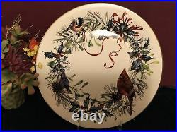 6 Lenox Winter Greetings Dinner Platers 24K Gold NEW USA Free Shipping