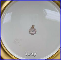 6 Pickard Porcelain Gold Encrusted Dinner Plates, circa 1940