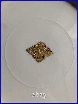 6 Vintage Wheeling Decorating Company 22 kt. Gold Encrusted 11 Dinner Plates