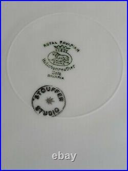 7 ROYAL BAVARIAN HUTSCHENREUTHER STOUFFER STUDIO DINNER PLATES 24 KtGold ENCRUST