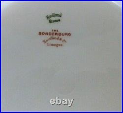(8) HAVILAND CO. LIMOGES FRANCE SCHLEIGER 101a DINNER PLATES 9 5/8 GOLD GILTED