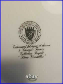8 Limoges Dinner Plates Set Authentic Limoges France Versalles Cobalt Gold
