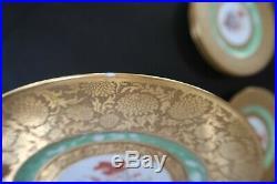 9 Royal Bavarian Hutschenreuther Selb Dinner Plates German Gilt Gold