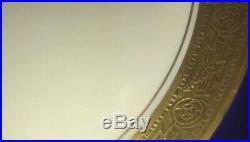 9 VTG Royal Bavarian Hutschenreuther Selb PICKARD GOLD GILT DINNER PLATES LOT