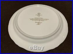 A Raynaud Ceralene Limoges Marie Antoinette Dinner Plate Pair- 10 1/4 D Gold
