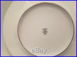 A Set of 8 Hutschenreuther Royal Bavarian Cobalt Gold Cabinet Dinner Plates