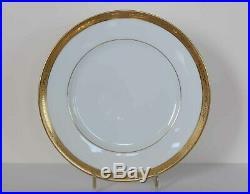 AMBASSADOR GOLD Raynaud Limoges SET OF 4 DINNER PLATES Gold Encrusted Ceralene