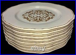 ARTE ITALICA Florentine Gold 13.75 Dinner Service Charger Plates 1 Set 4 Ea