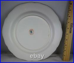 Antique Coalport Porcelain Cabinet Plate Pink Verge Heavy Gold Trim