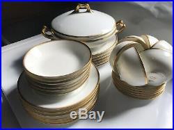 Antique Haviland Limoges Schleiger 20 Donhoff 6 Person Dinner Plates Set 31pc