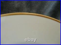 Antique Limoges Bawo & Dotter Elite Works France White Gold Band 10 Dinner Plate