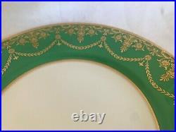 Antique Minton Fine Gold Decorated Plate S C Gump San Francisco Kelly Green Rim