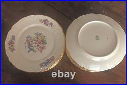 Antique Rosenthal Dessert plates, Phoenix Sanssouci (8 3/4 inches, gold band)