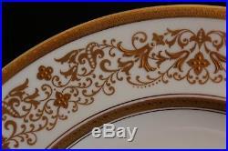 Antique Set 12 Aynsley Bone China England Dinner Service Plates Gold Encrusted