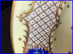 Antique Set of 7 Made in Dresden Germany 10&3/4 Dinner Plates Heavy Gold