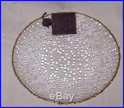 Artistic Accents Knobby Bubble Glass Raindrops DINNER Plates, SET OF 6 NEW