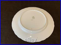 Aynsley England 1846 Dinner Plates 10 5/8 Dia Gold Powder Blue Laurels Set of 6