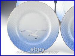 Bing & Grondahl Denmark #25 SEAGULL GOLD TRIM 9-5/8 DINNER PLATES Set of 4